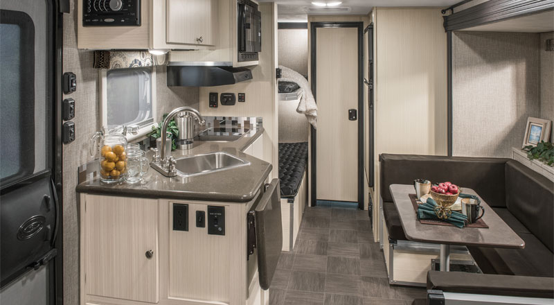 2017 Livin' Lite CampLite CL21BHS Ultra Lightweight Travel Trailer Kitchen